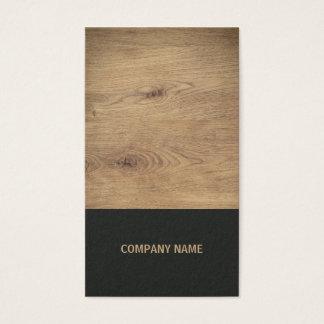 Cartão De Visitas Designer de interiores preto de madeira elegante