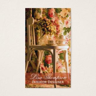 Cartão De Visitas Designer de interiores, Provence, decorador da