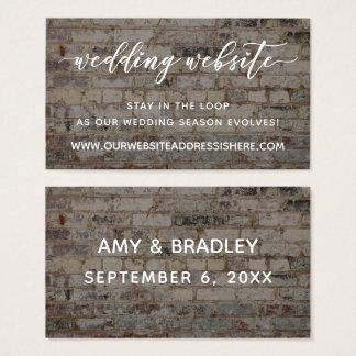 Cartão De Visitas Detalhes do Web site do casamento, roteiro sobre o