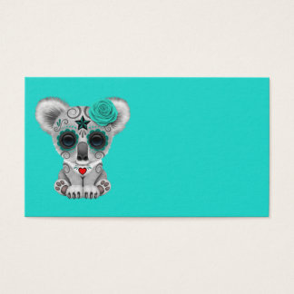 Cartão De Visitas Dia azul do Koala inoperante do bebê