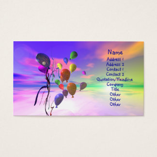 Cartão De Visitas Dia novo brilhante - tamanho do negócio