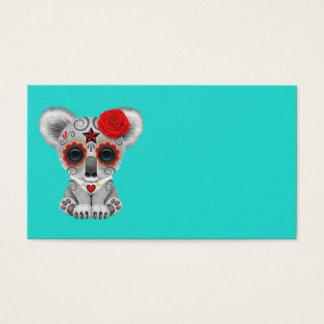 Cartão De Visitas Dia vermelho do Koala inoperante do bebê