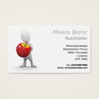 Cartão De Visitas dieta 3d, nutrição e comida