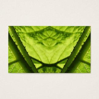 Cartão De Visitas Digitas frondosas verdes art.