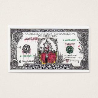 Cartão De Visitas Dinheiro a raiz de todo o mau