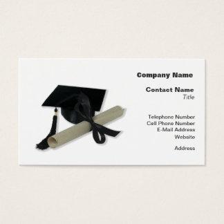 Cartão De Visitas Diploma e boné de formatura (o conselho do