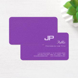 Cartão De Visitas Diretor luxuoso Elegante Monograma Liso do salão