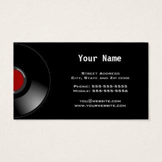 Cartão De Visitas Disco-jóquei