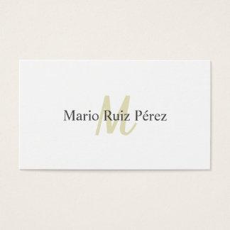 Cartão De Visitas Diseño Elegante Moderno Minimalista Blanco