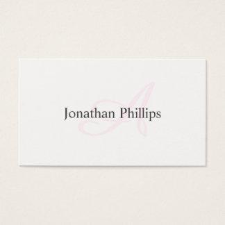 Cartão De Visitas Diseño Elegante Moderno Minimalista Blanco Rosa