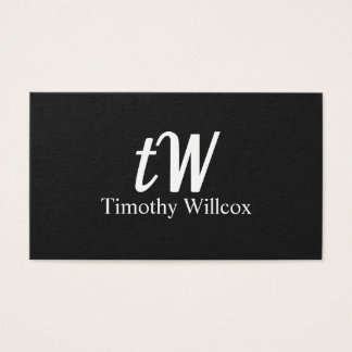 Cartão De Visitas Diseño Elegante Moderno Minimalista Negro