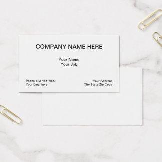 Cartão De Visitas Disposição clássica simples genérica