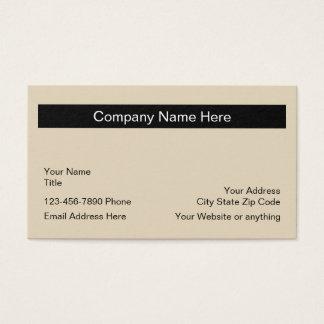 Cartão De Visitas Disposição de design simples