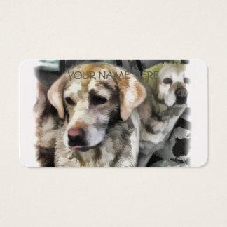 Cartão De Visitas divertimento dos labradors na lama