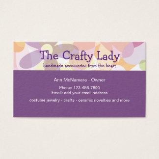 Cartão De Visitas Divertimento que Crafting fontes e senhora do