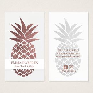 Cartão De Visitas Do abacaxi cor-de-rosa do ouro da restauração do