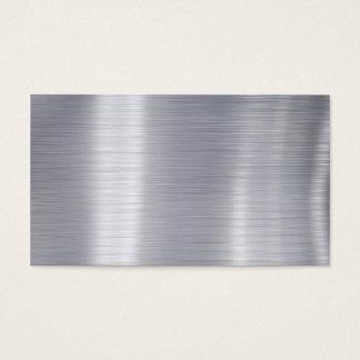 """Cartão De Visitas Do """"alumínio de alumínio escovado vazio falso """""""