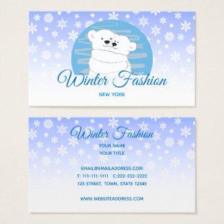 Cartão De Visitas Do amor polar do casal do urso neve bonito da