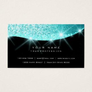 Cartão De Visitas Do brilho Sparkly do diamante do Aqua de Tiffany