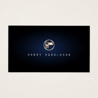 Cartão De Visitas Do ícone elegante da câmara de vídeo de