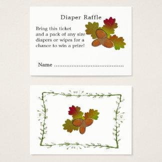 Cartão De Visitas Do Raffle pequeno da fralda do chá de fraldas das
