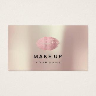 Cartão De Visitas Do rosa cor-de-rosa do ouro dos lábios do