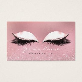 Cartão De Visitas Do rosa de prata do rosa da composição brilho de