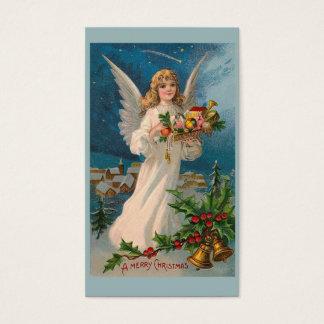 """Cartão De Visitas Do """"Tag do presente do anjo Natal"""""""