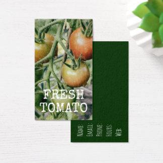 Cartão De Visitas Do tomate fresco do jardim dos tomates cozinha
