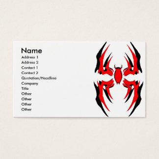 Cartão De Visitas dobro 3 da plataforma da aranha, nome, endereço 1,