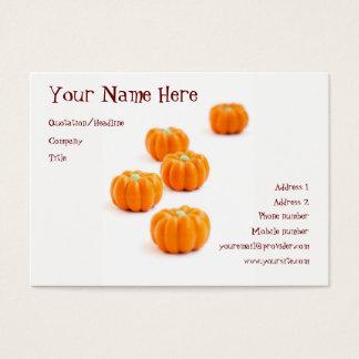 Cartão De Visitas Doces da abóbora do Dia das Bruxas