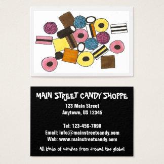 Cartão De Visitas Doces Foodie da loja dos doces dos doces de