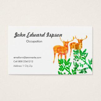 Cartão De Visitas Dois cervos