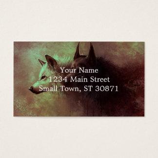 Cartão De Visitas dois lobos - lobo da pintura