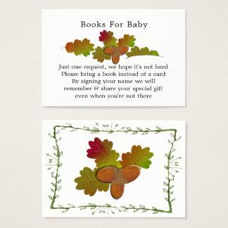 Cartão De Visitas Dos livros pequenos do chá de fraldas das bolotas