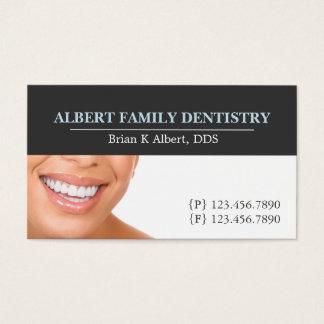 Cartão De Visitas Doutor dental Sorriso Negócio da odontologia do