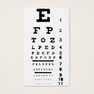 Cartão De Visitas Doutor Óptico Negócio da clínica da visão da carta