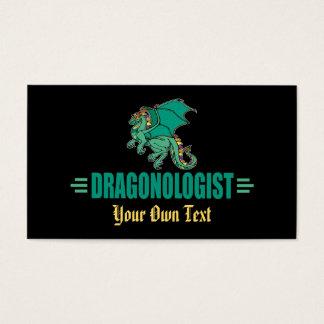 Cartão De Visitas Dragão engraçado DRAGONOLOGIST