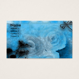 Cartão De Visitas dragfly azuis