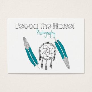Cartão De Visitas Dreamcatchers e penas