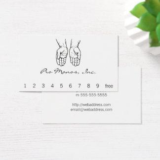 Cartão De Visitas Duas mãos abertas (preto e branco)