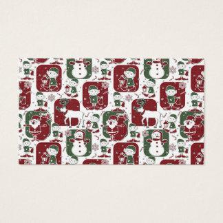 Cartão De Visitas Duendes & bonecos de neve do Natal