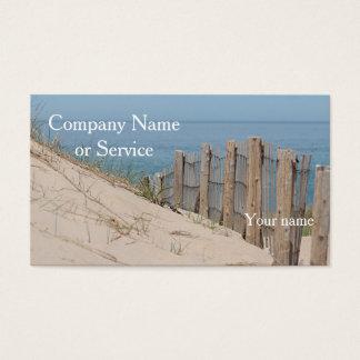 Cartão De Visitas Dunas de areia e cerca da praia