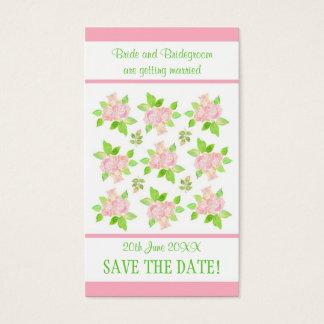 Cartão De Visitas Economias customizáveis dos rosas cor-de-rosa do