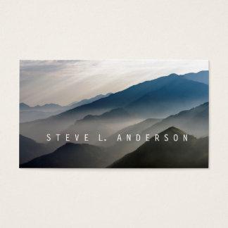 Cartão De Visitas Ecos da montanha/camadas enevoadas de montanhas