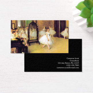 Cartão De Visitas Edgar Degas   a classe de dança