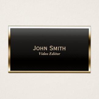 Cartão De Visitas Editor video da beira moderna do ouro