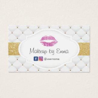 Cartão De Visitas Edredões do luxo dos lábios do brilho do rosa do