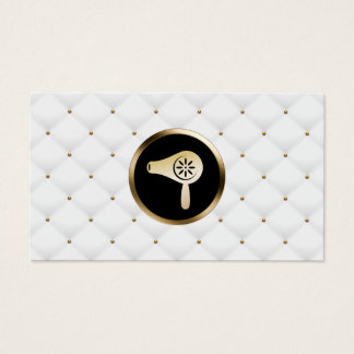Cartão De Visitas Edredões elegantes do secador do ouro do