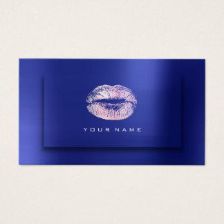 Cartão De Visitas Efeito do rosa 3D do cobalto da beleza dos lábios
